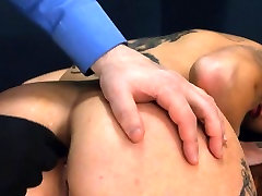 Extremely hardcore BDSM rope sex with butt action