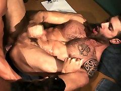 Hung muscle bears tugging