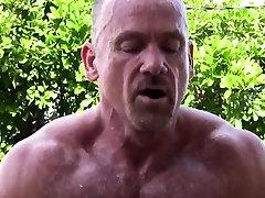 Outdoor bear assfucking muscle before cumming