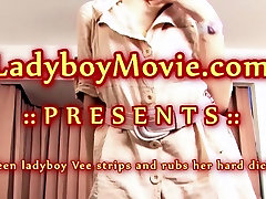 Thai Ladyboy Vee Stripping