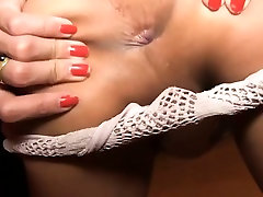 Tight ladyboy bitch POV style anal fucking with a white dude