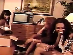 Four Ebony Lesbians Have Fun With Toys