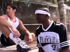 Sporty Interracial Jocks Blowjobs