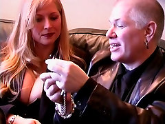 Big tits hottie and a long haired dude into BDSM