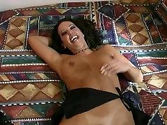 Guy jizzes on brunette&039;s beautiful tits after steamy sex in bed