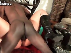 FunMovies Chubby German housewife cuckold with a big black m