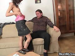 Oral orgy with his parents