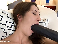 Extreme long brutal dildo fucking