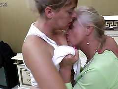 Old and young lesbian amateur group sex