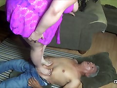 BBW Brutally Crushes and Humiliates a Crippled Man