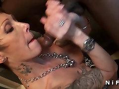Big boobed mature hard anal fucked