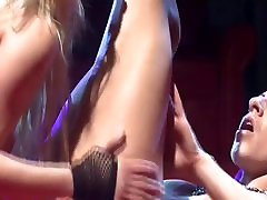 lesbian pussy licking on public show stage