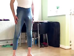 skinny ass boy in blue jeans