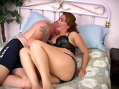Sexy chubby latina brunette sucks and fucks