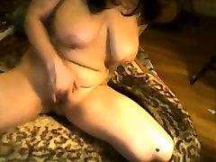Tattooed Babe with Big Tits Masturbating on Webcam